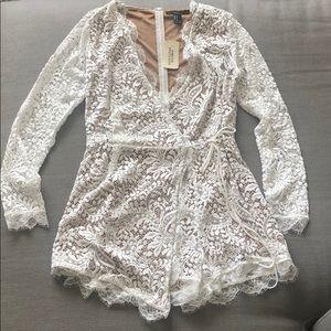 NWT White Lace Romper